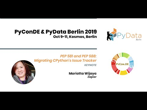Image from Keynote: PEP 581 and PEP 588: Migrating CPython's Issue Tracker - Mariatta Wijaya