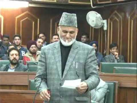 Congress MLA G M Saroori speaking on J&K Budget 2018-19 in JK Assembly,ask Govt to cover rural areas