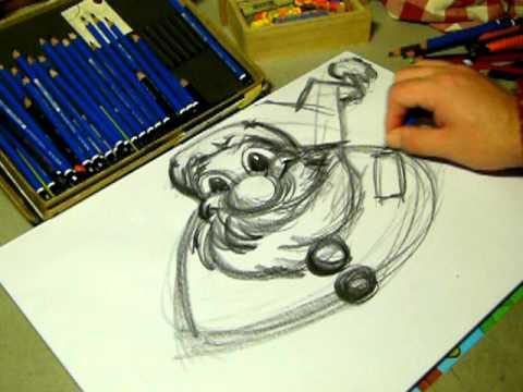 Come disegnare un babbo natale scuola di disegno school of for Disegni facili di natale