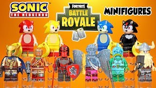 Fortnite Battle Royale plus Sonic the Hedgehog & Friends Unofficial LEGO Minifigures