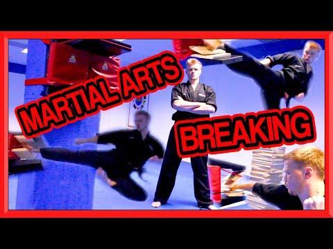 Taekwondo Breaking Session   Kicking & Hand Techniques   Ginger Ninja Trickster