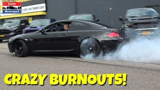 BMW M6 E63 doing CRAZY BURNOUTS!