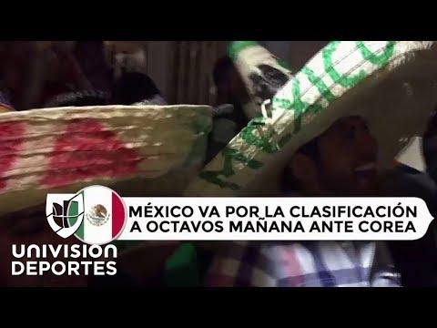 Aficionados le llevaron serenata a la Selección Mexicana en Rostov on Don