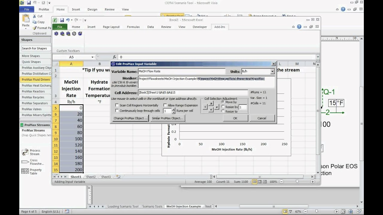 How To Link Hysys To Excel - Chemical Process Simulation