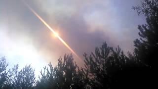 Pożar lasu w Ostrowcu Świętokrzyskim
