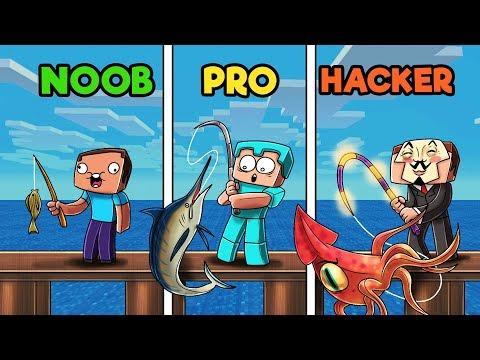Minecraft - FISHING CONTEST! (NOOB vs PRO vs HACKER)