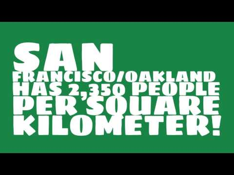 How does the population of San Francisco/Oakland rank?