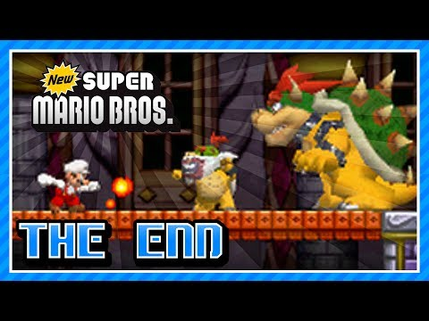 New Super Mario Bros  (DS) 100% - World 8-5, 8-6, 8-7, 8-8, 8-Tower 2, 8-  Bowser's Castle
