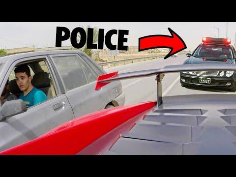 SLOW COPS GIVE UP CHASING LAMBORGHINI!!