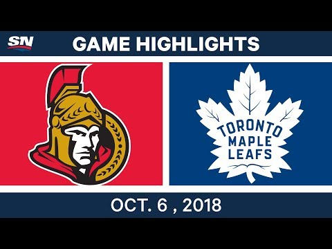 NHL Highlights | Senators vs. Maple Leafs - Oct. 6, 2018