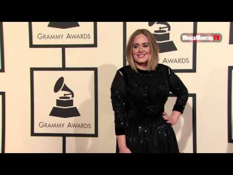 Adele arrives at 58th Annual Grammy Awards Red carpet