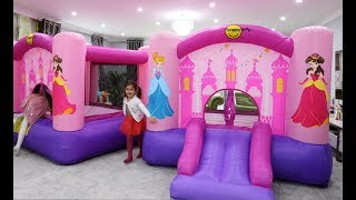 One of Emily Tube's most viewed videos: Princess BOUNCY CASTLES In My HOUSE