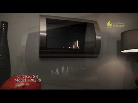 Anywhere Fireplace Chelsea Stainless Steel   Ventless Bio Ethanol Fireplace 852x480 YouTube