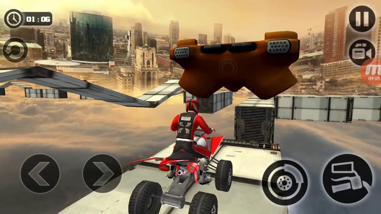 Racing Quad Bike Moto Stunt Atv Impossible Track By Tech 3d