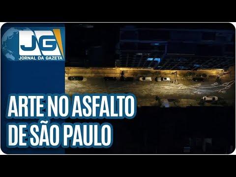 Grafiteiro argentino escolhe o asfalto de São Paulo para exibir sua arte