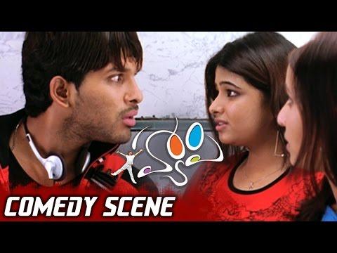 Allu Arjun Cheating Genelia & Her Friends for Train Ticket| Happy Movie Comedy Scene