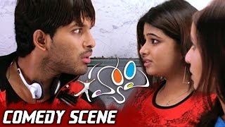 Allu Arjun Cheating Genelia & Her Friends for Train Ticket| Happy Movie Comedy Scene
