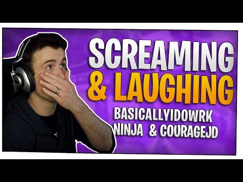 Fortnite - Dark Mode Part 2 Screaming & Laughing - ft. BasicallyIDoWrk, Ninja, & CouRageJD | DrLupo thumbnail