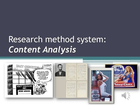 Conducting A Content Analysis