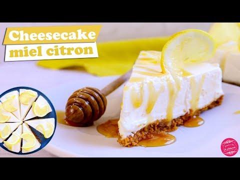 🍯-cheesecake-miel-citron-sans-cuisson-~-recette-dingue-!-🍯