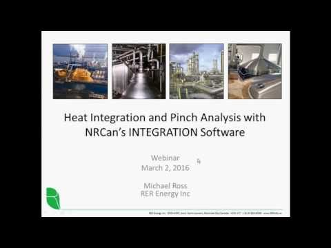 Webinar: Heat integration and Pinch Analysis with NRCan's INTEGRATION software