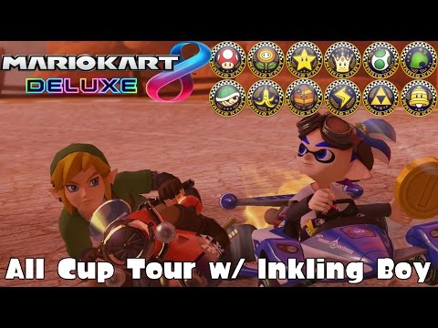 Mario Kart 8 Deluxe: All Cup Tour w/ Inkling Boy (200cc / Frantic Items / Hard CPUs) [1080 HD]