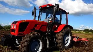 BELARUS 952.5 ///testy polowe - uprawa rolnicza/// PŁUGI brony AGREGATY siew poplonów i kukurydzy