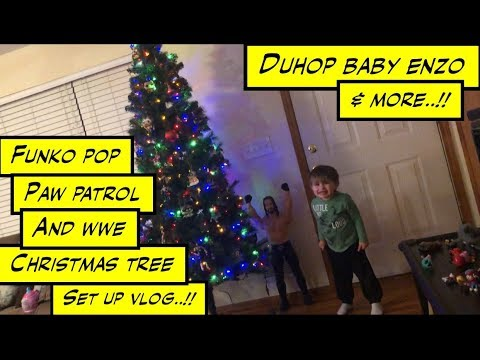 duhop WWE action figure Christmas Tree Setup and more vlog