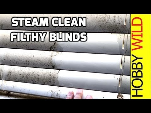 Steam Cleaning Filthy Venetian Blinds - Karcher SC3 Steam Cleaner