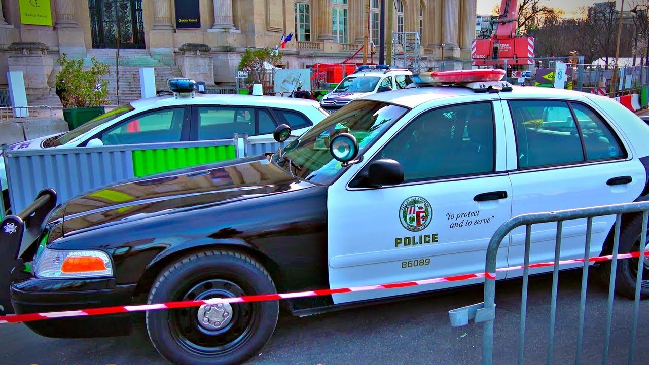 Lapd Ford Crown Victoria Police Interceptor In Paris Youtube