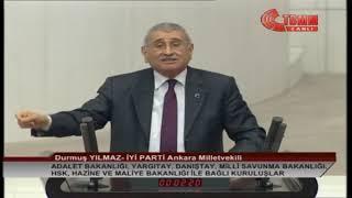 İYİ PARTİ ANKARA MİLLETVEKİLİ DURMUŞ YILMAZ MECLİS KONUŞMASI-11 ARALIK 2019