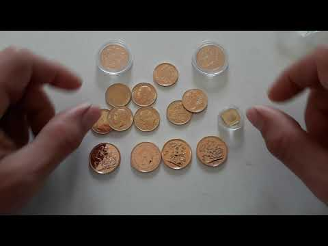 Gold Sovereigns, Half Sovereigns, Quarter Sovereign, Shield back, different heads