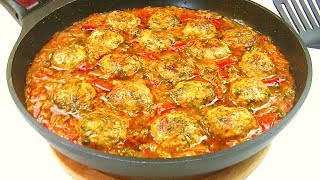 Вкусный Ужин за 30 минут./ Мясные шарики с овощами.