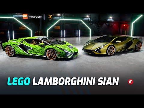 Lamborghini And LEGO Built A Life-Size Sián FKP 37 From 400,000 Bricks