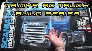 RC TRUCKS  TAMIYA SCANIA R/C TRUCK BUILD  INTRODUCTION  BASIC CHASSIS CONSTRUCTION PART 2