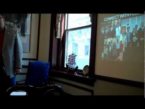 Robert Blair, 2011 USA Agriculture Eisenhower Fellow, shows highlights from his travels