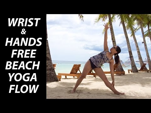 Wrist-Free Hands-Free Beach Yoga Flow - 10 Minutes