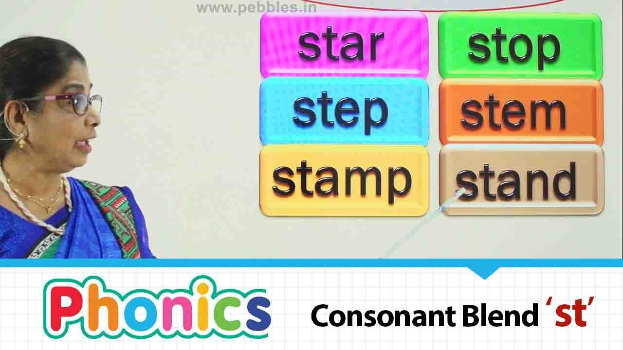 Consonant Blends   beginning consonant blend 'st'   Phonics  Basic English educational Part-92
