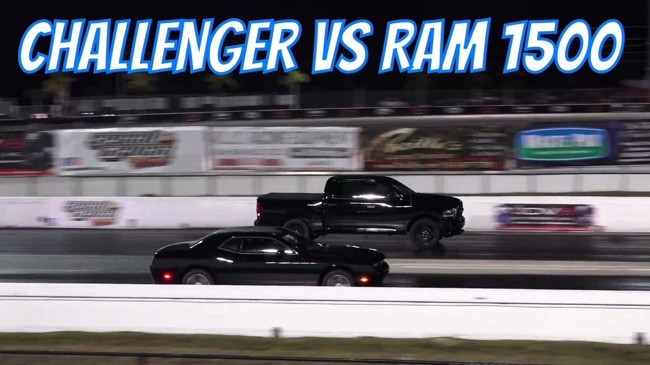 Dodge Ram 1500 Vs Challenger Close Race