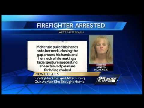 Firefighter fires shots at man who refuses her advances
