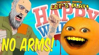Annoying Orange -  HAPPY WHEELS: No Arms!