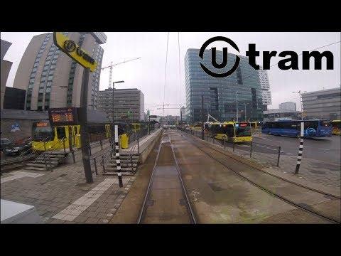 U-OV Utrecht Sneltramlijn 61 Cabinerit Remise Nieuwegein - Utrecht CS - IJsselstein Driver's view