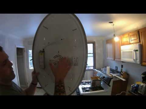 how-to-install-a-hampton-bay-ceiling-flush-mount-light-fixture---electric