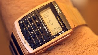 Unboxing A New CA506C-5A. Casio Rose Gold Calculator Watch. Smart watch history series. Close-up