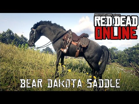 Red Dead Online - Special Saddles - Bear Dakota Saddle - YouTube