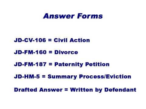 Connecticut civil procedure defendants filing of an answer to connecticut civil procedure defendants filing of an answer to the complaint solutioingenieria Choice Image