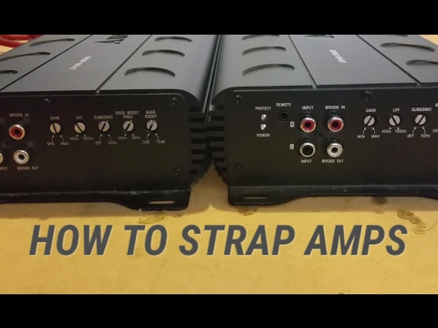 HOW TO Strap Amps - Linking Two Strappable Mono Amps!!!