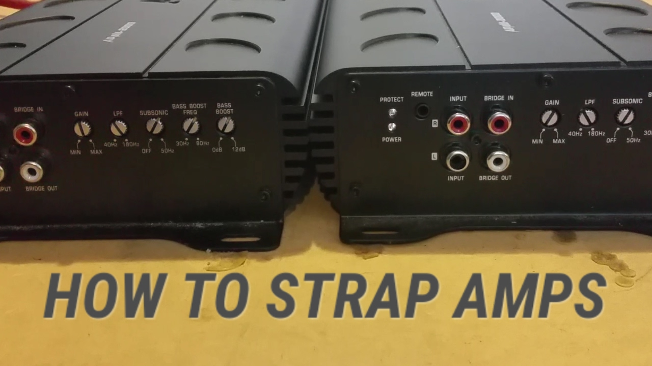 HOW TO Strap Amps - Linking Two Strappable Mono Amps!!! - YouTube  Link Four Channel Amp Wiring Diagram on 2 channel amp diagram, 4 channel amp 4 speakers 1 sub, 4 channel momentary remote wiring diagram, sound system diagram, 1999 ford f-250 fuse box diagram, 4 channel car amp, bridging 4 channel amp diagram, 4 channel amplifier installation kit, 4 channel audio amplifier, bridged amp diagram, guitar string diagram, 4 channel marine amps, 4 channel keyboard amps,