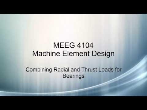 Machine Element Design V24 - Radial and Thrust Loads on Bearings
