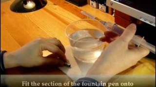 How to clean a Fountain Pen Feed and Nib